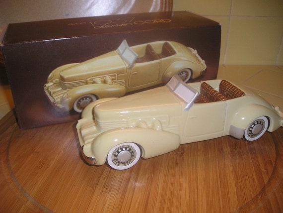 Ceramic Car 1937 Cord Avon Dated 1984 Made By Debscollectibles