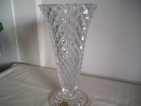 Vase Lead Crystal Princess House By Debscollectibles On Etsy