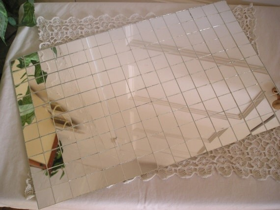 Vintage Mirror Tiles Mat Placemat By Debscollectibles On Etsy