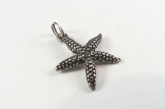 Starfish Charm, silver, 20x17mm