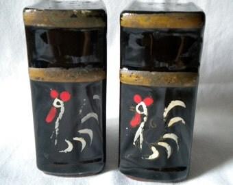 20% OFF Rooster Black Vintage Salt and Pepper Shakers