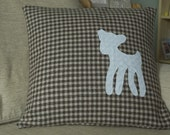 Reserved for Michael - Vintage tweed and bambi cushion