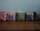 Reserved for Kat - Fabric Baby Name Blocks - Amber