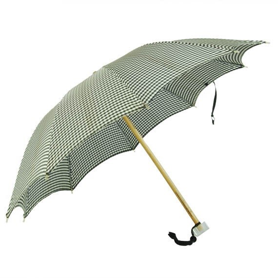 Vintage Rockabilly Gingham Umbrella Retro Pinup Girl