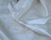 Vintage Sunbleacht fabric, vintage Irish linen, vintage fabric, vintage linen fabric, cream vintage fabric,  cream linen, home decor fabric