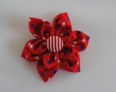Special Order for Amy - 4 Red White & Blue 4th of July Hand Sewn Fabric Hair Bow for Toddlers or Little Girls