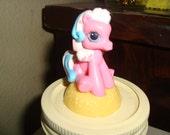 My Little Pony Yellow And Bright Pink  Storage Jar - Toy Storage - Candy Jar - Girls Room - Apothecary Jar - Mason Jar - Toddler Gift