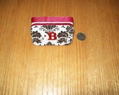 Altered Altoids Tin Damask Print With Sparkly Red Trim