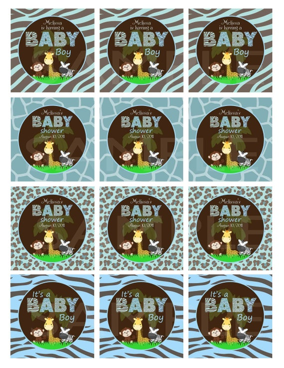 Custom Personalized Boy or Girl or Gender Neutral Baby Shower Cupcake Toppers/Stickers Matches Invitation - Digital Print