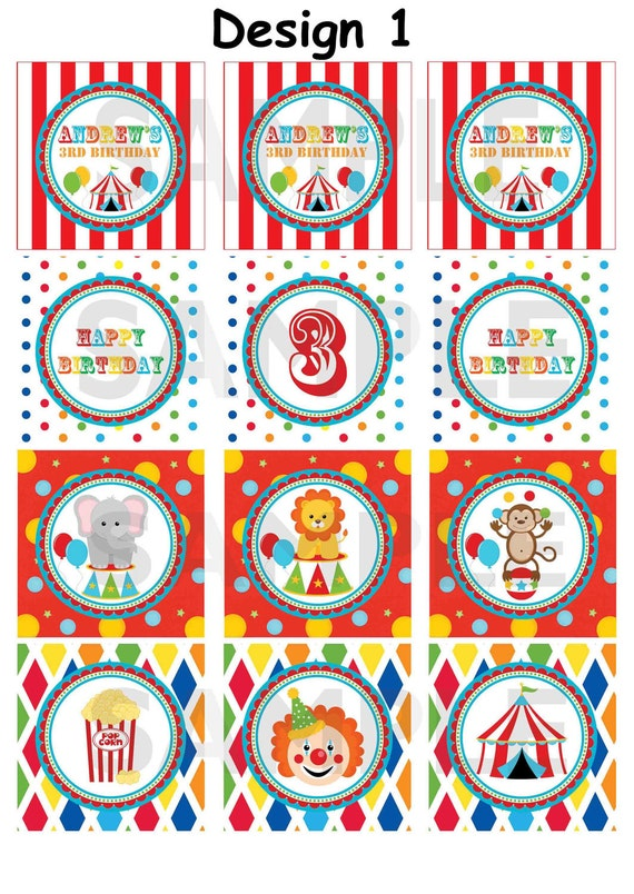 Circus Invitation with awesome invitation layout