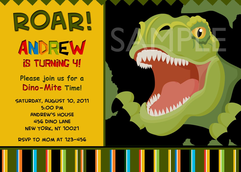 Dinosaur Birthday Invitations is best invitations example