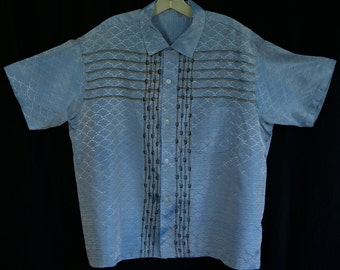 50s -XL- Atomic - Pattern - RnR - Stage - Shirt - 1950s - Rock n Roll - Extra Large