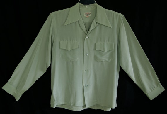 40s -M- Acetate - Nylon - Rockabilly - Shirt - 1940s - VLV - Swing - 1940s - Immaculate Condition