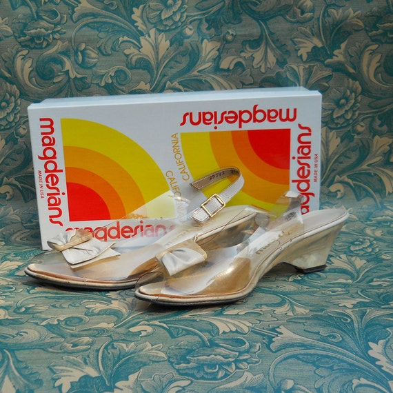 California Magdesians Vintage Clear Slingback Size 7 1/2 M