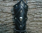 Dead Mans Pirate Leather Arm Bracers - MedievalCollectibles