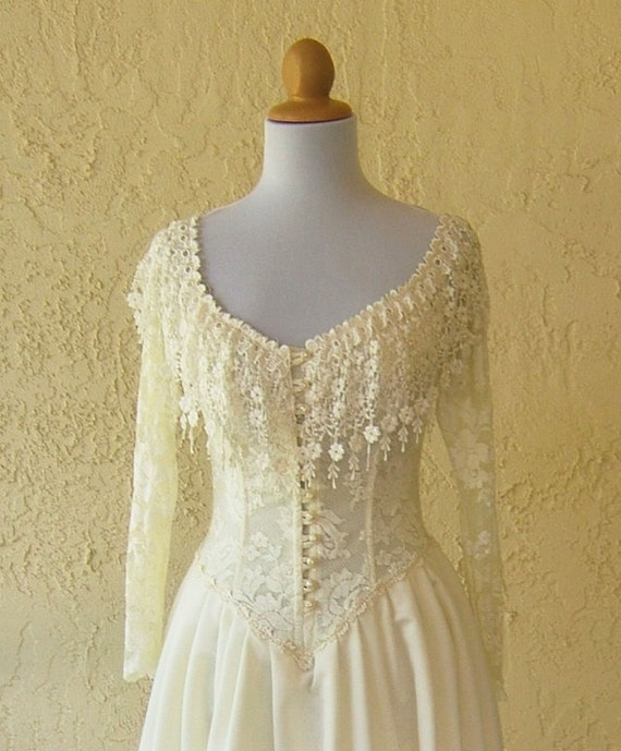 RESERVED FOR JANE Victorian Inspired Vintage Wedding Gown- Newer Worn