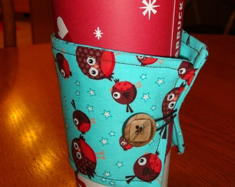 Red Bird Coffee Cup Cozy