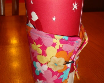 Butterfly Coffee Cup Cozy