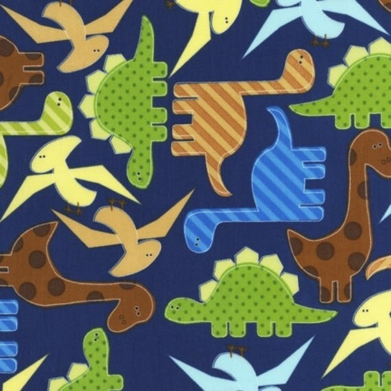 Reserved for Ashley-Robert Kaufman Urban Zoologie Dinosaur fabric by Robert Kaufman-3.5 yards