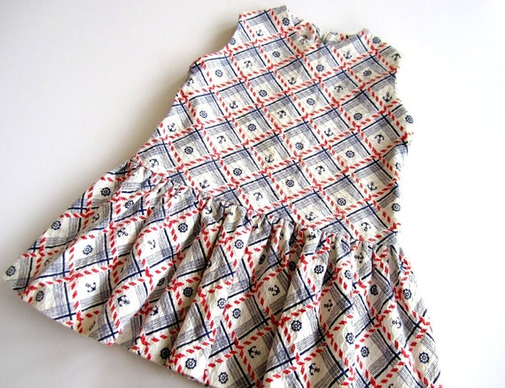 vintage nautical dress 4T