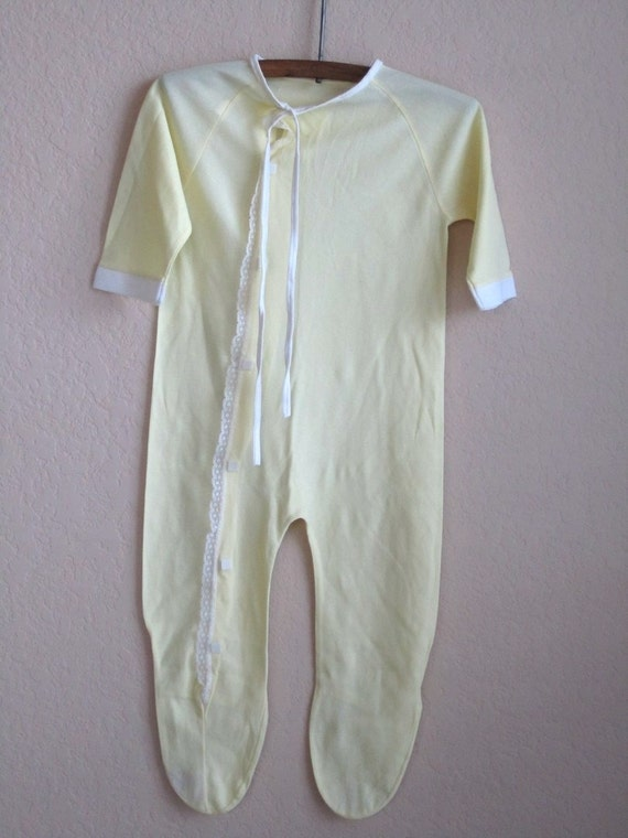 vintage baby sleeper footed pajamas 9 months