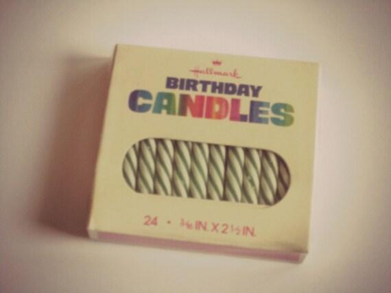 vintage birthday candles by Hallmark NOS unopened unused