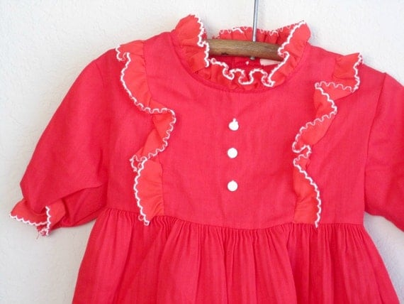 vintage baby dress 18 months