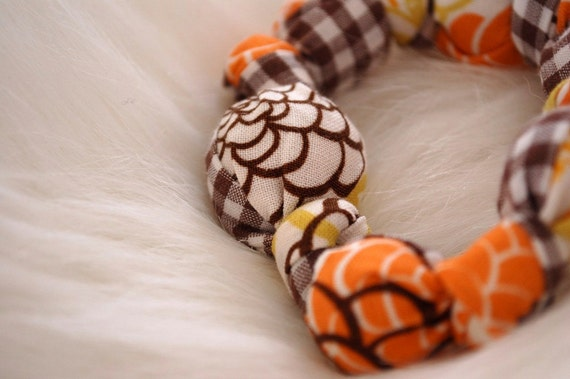 Fabric Covered Wooden Teething Ring