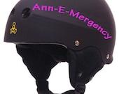 2 Custom Derby Names or Numbers Vinyl Helmet Decal