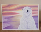 Art Notecard 5 x 7 inches - If I Were A Polar Bear I'd Be Warm