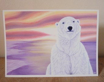 Art Notecard 5 x 7 inches - If I Were A Polar Bear I'd Be Warm