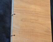 Handmade - Rustic Wood Book for a Journal, Guest book, Wedding, Drawing, Scrapbook, etc.