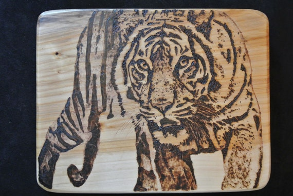 Reserved for  sales4264 (Fred) CUSTOM Wood Burned Detailed Design Cutting Board - Custom 14.5 x 13 x 1.5 - Black Willow