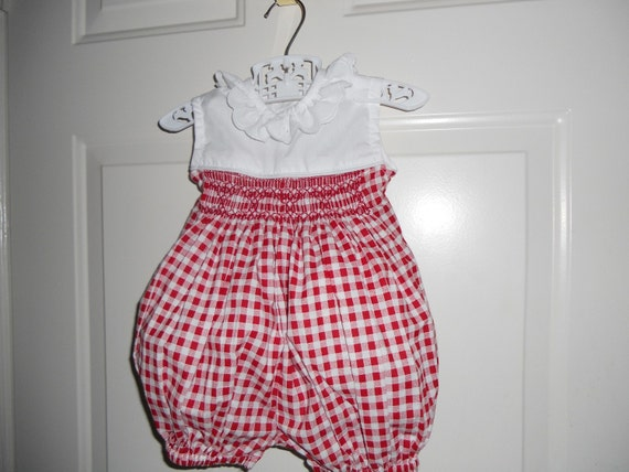 Size 18 months Red and White Bubble