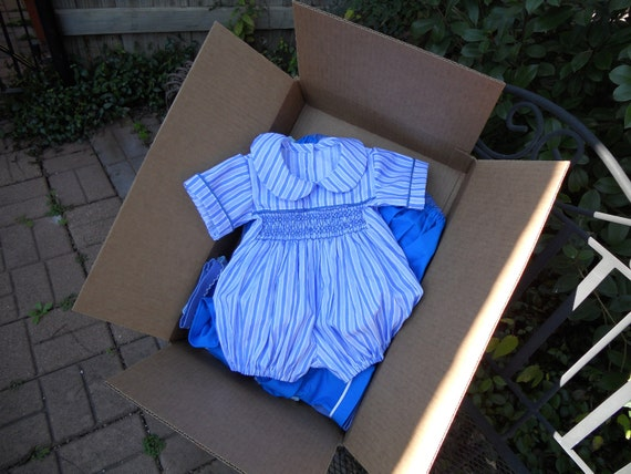 Blue and White Boys Bubble Size 12 Months