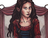 Arwen in Bloodred - Lord of the Rings - Elf - 2x7 Laminated Bookmarks