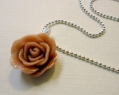 Rose Necklace, Cappuccino Brown