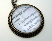 Personalized Necklace - Custom Dictionary Art Pendant - Dictionary Jewelry