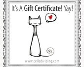 Gift Certificate for 50 Dollars - Printable PDF