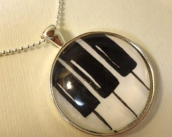 Piano Keys Necklace Pendant