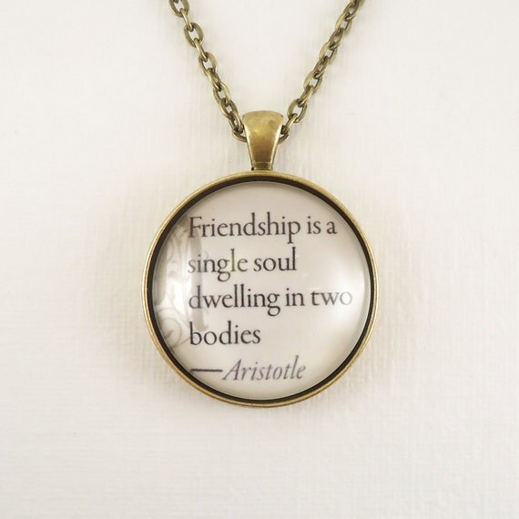 Friendship Quotes Jewelry: Friendship Is A Single Soul Dwelling In Two By Cellsdividing