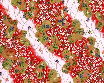 Japanese Yuzen Chiyogami Washi Paper (Butterfly Design 03) - A4 Sheet