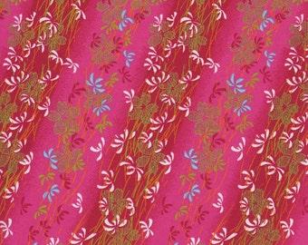 Japanese Yuzen Chiyogami Washi Paper (Floral Design 05) - A4 Sheet