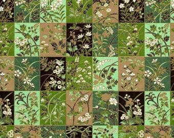 Japanese Yuzen Chiyogami Washi Paper (Floral Design 32) - A4 Sheet