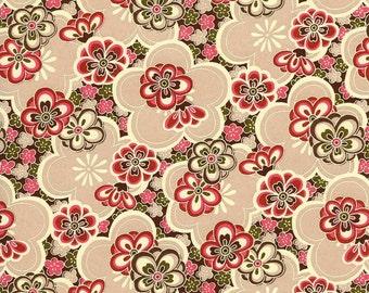 Japanese Yuzen Chiyogami Washi Paper (Floral Design 53) - A4 Sheet