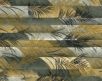 Japanese Yuzen Chiyogami Washi Paper (Leaf Design 05) - A4 Sheet
