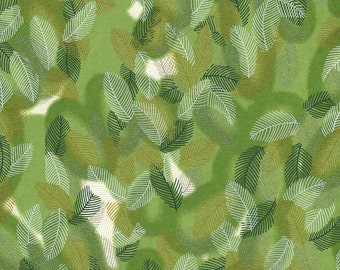 Japanese Yuzen Chiyogami Washi Paper (Leaf Design 10) - A4 Sheet