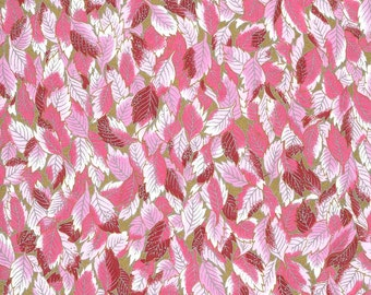 Japanese Yuzen Chiyogami Washi Paper (Leaf Design 12) - A4 Sheet