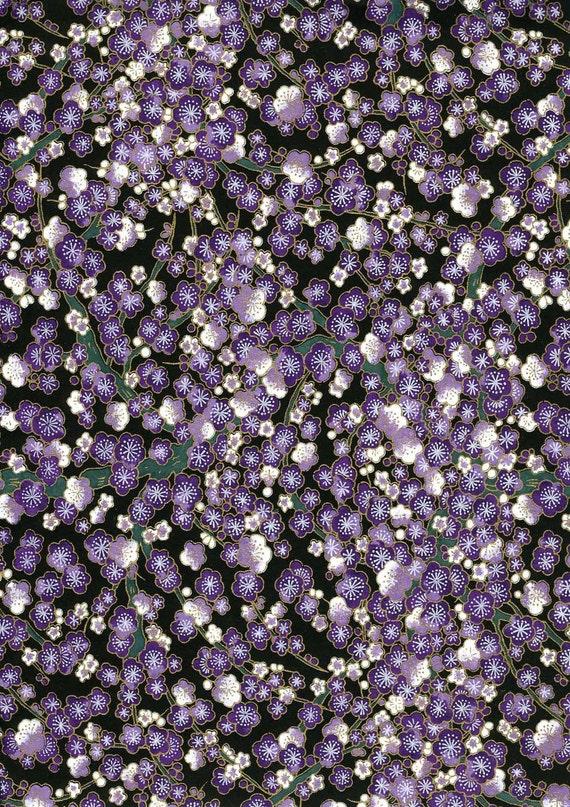 Japanese Yuzen Chiyogami Washi Paper (Floral Design 52) - A4 Sheet