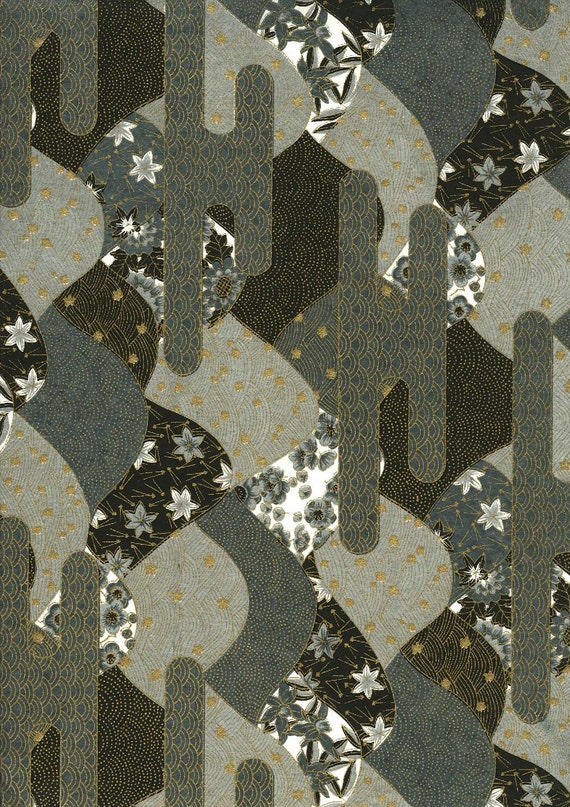 Japanese Yuzen Chiyogami Washi Paper (Panorama Design 03) - A4 Sheet